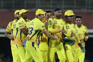 IPL 2018: Protesters throw shoes, removed by police during CSK-KKR...