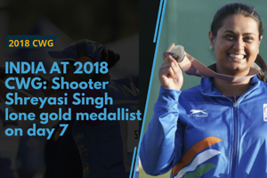 Shooter Shreyasi Singh was the only gold medallist for India on day...