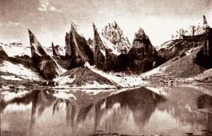 Lake on Rimo Glacier, 1935.