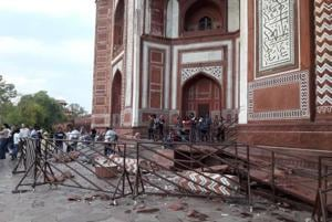 Taj Mahal's gates damaged in overnight thunderstorm