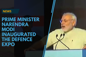 Prime Minister Narendra Modi inaugurated the defence expo in...