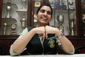 Go-getter: St Anne's Convent School, Sector 32, Chandigarh, head girl Srishti (who goes by one name) is an international-level softball player who doesn't fear failure. She simply gets back into the game and gives her best shot.