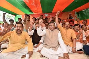 BJP leaders' fast against budget session washout farcical, says...
