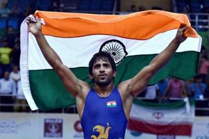 2018 Commonwealth Games: Bajrang Punia wins gold in men's freestyle 65...