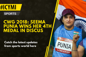 Discus thrower Seema Punia cleared 60.41M which was good enough to win...