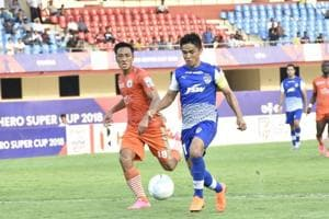 Sunil Chhetri helped Bengaluru FC defeat NEROCA FC 3-1 in a Super Cup quarter-final at the Kalinga Stadium  on Friday.