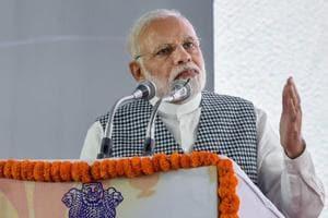 Prime Minister Narendra Modi speaks during the inaugural of the Dr Ambedkar National Memorial at 26 Alipur Road in New Delhi on Friday.