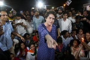 Those who have come here to push, go home: Priyanka Gandhi at midnight...