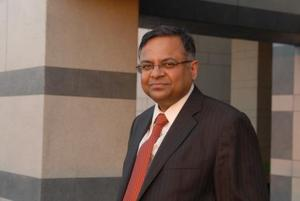 N. Chandrasekaran, Tata Group chairman, photographed at his office in Mumbai.