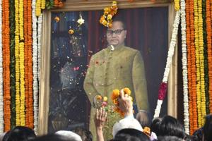 Protests, 'cleaning' and tributes mark Ambedkar's birth anniversary...