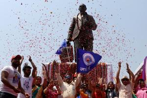 The main celebration was held in Dalit Prenra Sthal in Noida and Badalpur village of Greater Noida, which is the native place of Mayawati, former chief minister of Uttar Pradesh.