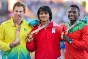 Neeraj Chopra, the junior world champion in javelin throw, won gold in...