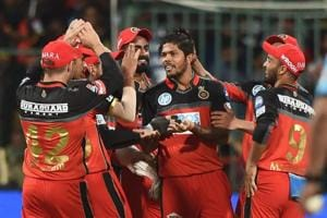 Umesh Yadav's 3/23 helped Royal Challengers Bangalore beat Kings XIPunjab by four wickets in an IPL 2018 match at the M Chinnaswamy Stadium in Bengaluru on Friday.
