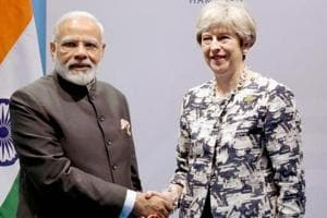 Prime Minister Narendra Modi with Britain