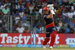 Jason Roy in action during match nine of the 2018 Indian Premier League between Mumbai Indians and Delhi Daredevils at the Wankhede Stadium on Saturday. Get highlights of the IPL 2018 clash between Mumbai Indians (MI) and Delhi Daredevils (DD) here