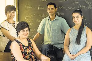 Therefore Design partners(from left) Gauri Barve Kale, Dhun Patel, Nitin Virkar and Vrishali Kakre.