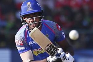 IPL 2018:Sanju Samson fifty takes Rajasthan Royals to 217/4 against...