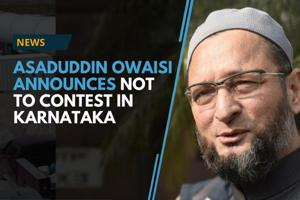 All India Majlis-e-Ittehadul Muslimeen(AIMIM) chief Asaduddin Owaisi...