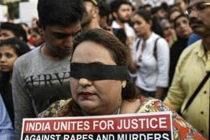 Mumbaiites came out in large numbers and held a march on Sunday at Carter Road, Mumbai, to protest against the rape of an eight-year-old girl in Kathua near Jammu, and a teenager in Unnao, Uttar Pradesh.