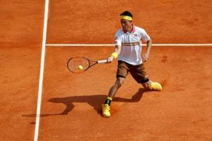 Kei Nishikori fights back to beat Tomas Berdych in Monte Carlo...