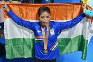 Indian boxing veteran Mary Kom won the women