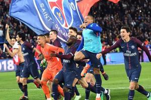 Paris Saint-Germain thrash AS Monaco to clinch Ligue 1 title