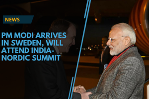 Prime Minsiter Narendra Modi reached Stockholm early on April 17 on a...