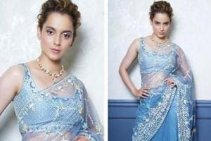 Kangana Ranaut is real-life Elsa from Frozen in ice blue Anita Dongre...