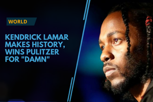 American rapper Kendrick Lamar made history as he won the Pulitzer...