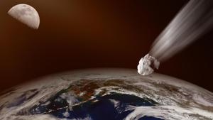 Asteroid flight at Earth photo for representation.