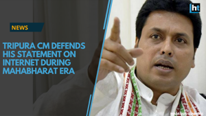 "Calling his critics ""narrow minded,"" Tripura Chief Minister Biplab..."