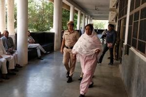 Main accused Jaswanti Devi in the Panchkula district court on Wednesday.