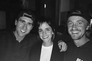 Emma Watson, Tom Felton, Matthew Lewis have mini Harry Potter reunion....