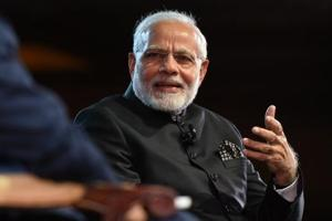 Prime Minister Narendra Modi interacts with Indian diaspora and takes questions from across the world during 'Bharat Ki Baat, Sabke Saath' event at Central Hall Westminster in London on Wednesday.