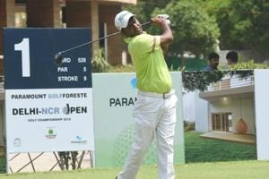 Om Prakash Chouhan took the joint-lead at the Delhi-NCR Open alongside Karandeep Kochhar in Noida on Thursday.
