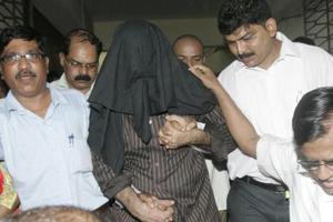 Tahir Merchant, (centre), one of the 1993 Mumbai bomb blasts case accused.