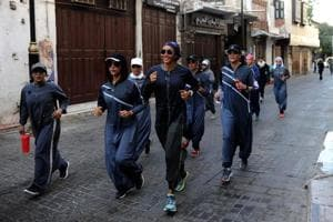 Saudi Arabian women embrace sports-friendly abayas