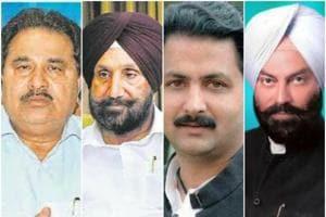 (From left) OP Soni, Sukhjinder Singh Randhawa, Vijay Inder Singla, and Rana Gurmeet Sodhi will be among nine ministers who will take oath in Raj Bhawan on Saturday at 6 pm.