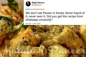 Sanjeev Kapoor roasted for his experimental 'Malabar Paneer' recipe on...