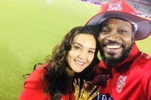 IPL 2018: Chris Gayle celebrates Kings XI Punjab's win with Preity...
