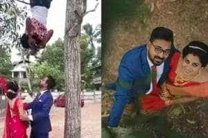Meet Vishnu, the Kerala man behind the viral upside-down wedding...