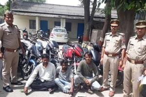 Noida: Three arrested for stealing motorcycles