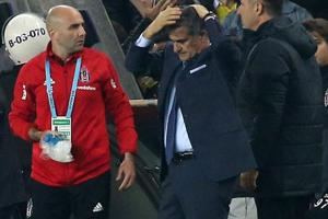 Besiktas coach Senol Gunes wounded by projectile thrown in derby vs...