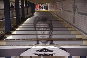 New York subway turns into mini museum dedicated to David Bowie. See...