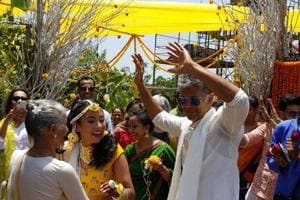 Milind Soman to marry Ankita Konwar tonight. See pics from haldi,...