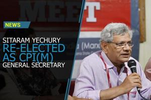 Sitaram Yechury was on Sunday re-elected as CPI(M) general secretary...