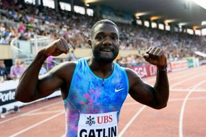 Justin Gatlin wins his first 100m race of season