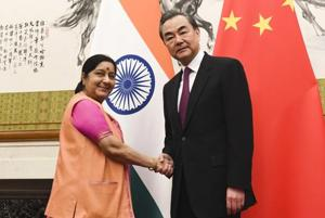 Sushma Swaraj meets Chinese counterpart Wang Yi to discuss Sino-India...
