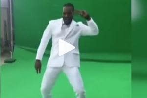 Chris Gayle dancing to Sapna Choudhary's song is the best sight today