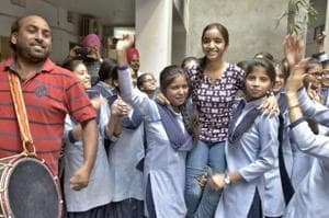 In pics: Students celebrate their success as PSEB declares Class 12...